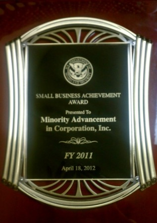DHS award for Fiscal Year 2011
